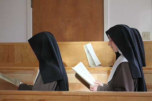 Nuns at prayer