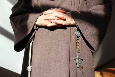 Nun in habit