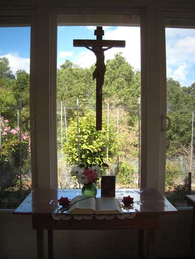 Cross in the window