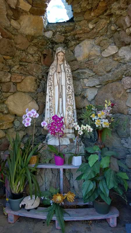 Mary in the grotto